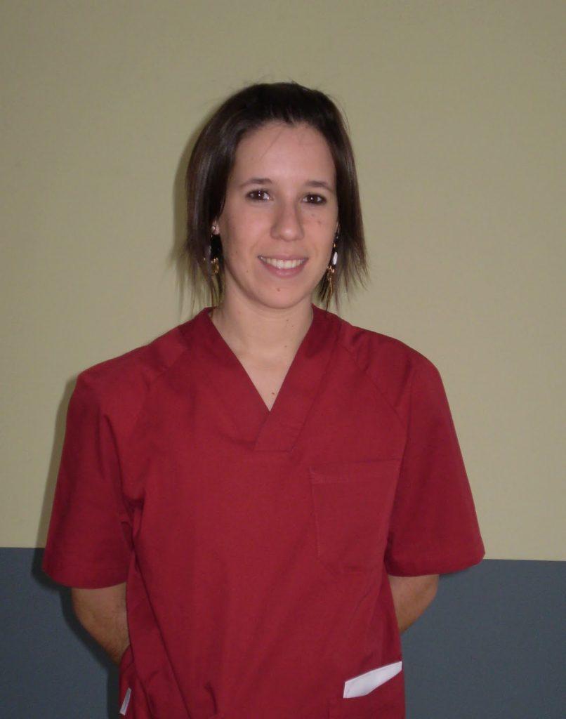 Miriam Urkiza, fisioterapeuta de la residencia Igurco Orue ubicada en la localidad vizcaína de Amorebieta-Etxano.