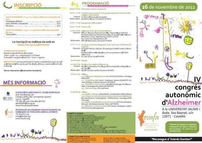 IV Congreso autonómico de Alzheimer triptico-congreso-fevafa-final