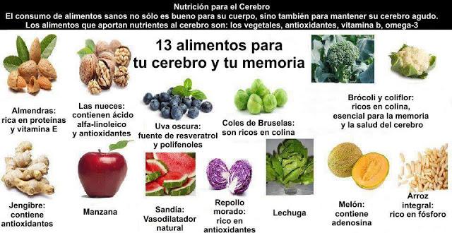 Alimentos para tu cerebro y tu memoria