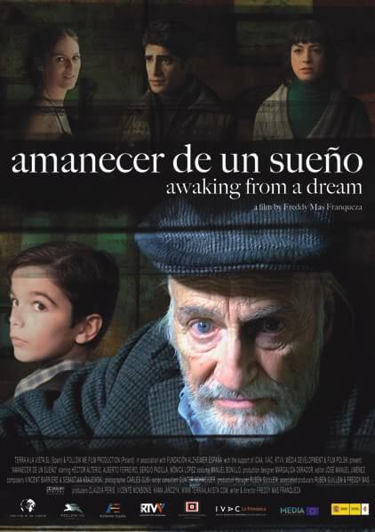 Cartel Amanecer en un Sueño. Pelicula Alzheimer Hector Alterio. Fundacion Alzheimer España