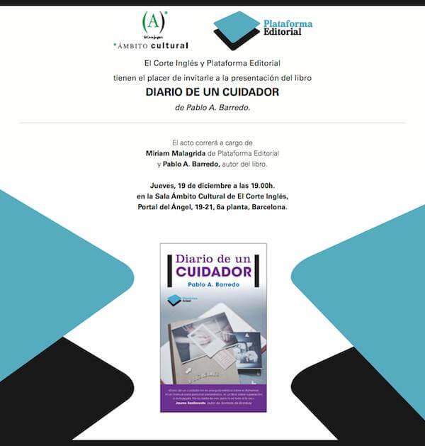 Presentación oficial Diario de un Cuidador en El Corte Inglés