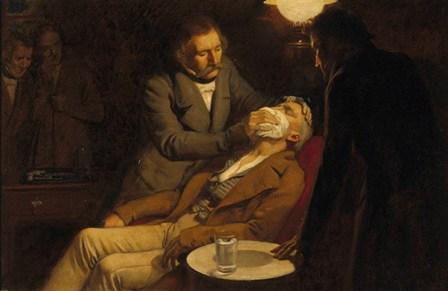 Primeros usos de anestesia general. La anestesia en el Siglo XIX (Creditos: Wellcome Library, London.)