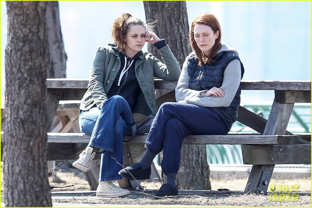 Kristen and jullianne filming stil alice at the riverside park nyc.