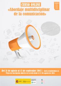 Curso online gratuito «Abordaje multidisciplinar de la comunicación» cartelabordajecomunicacion