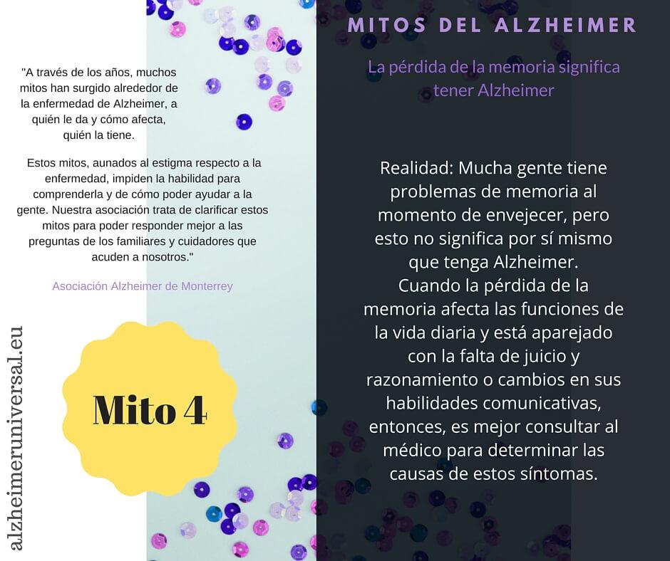 Mitos del Alzheimer. Mito 4