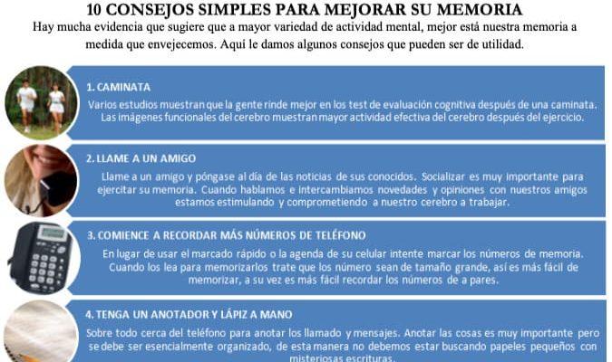 10 Consejos Simples para Mejorar tu Memoria