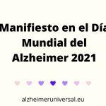 Manifiesto en el Día Mundial del Alzheimer 2021